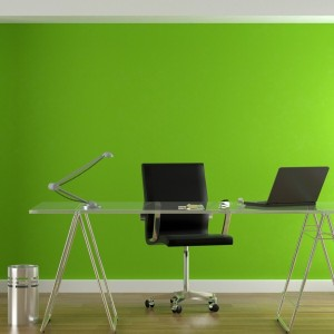 Home-office-wall-color-green-tones
