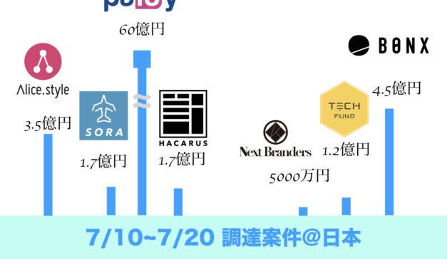 空(そら)は次世代のプラットフォーム事業になりうるか? 〜2018/7月 調達案件まとめ〜